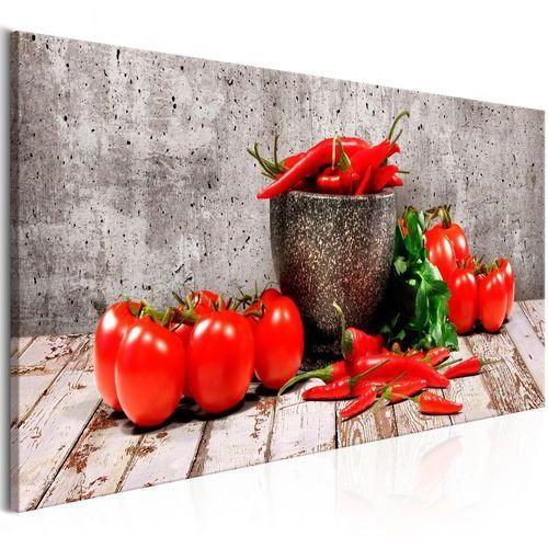 Obraz - czerwone warzywa (1-częściowy) beton wąski marki Artgeist