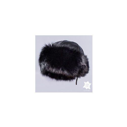 Toczek z lisa / czapka toczek klasyczny [n60s] marki F.p. leather