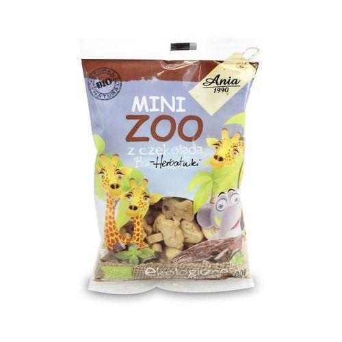 Bioania Ciasteczka z czekoladą mini zoo bio 100g - bio ania (5903453005408)