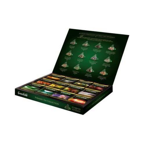 GREENFIELD Pyramid Tea Collection Zestaw 12 smaków herbat i naparów owocowo-ziołowych Piramidki