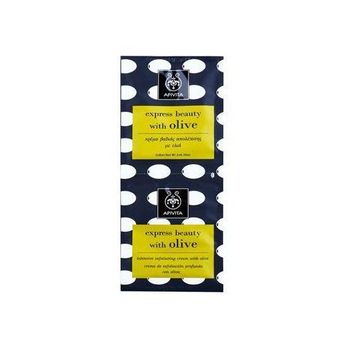 express beauty olive peeling głęboko oczyszczający do twarzy 2 x 8 ml marki Apivita