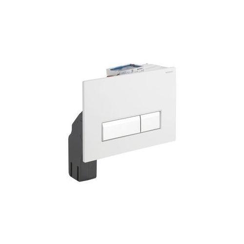 Geberit zestaw wykończeniowy z przyciskiem Sigma40 do elementu montażowego do WC z odciągiem szkło białe 115.600.SI.1