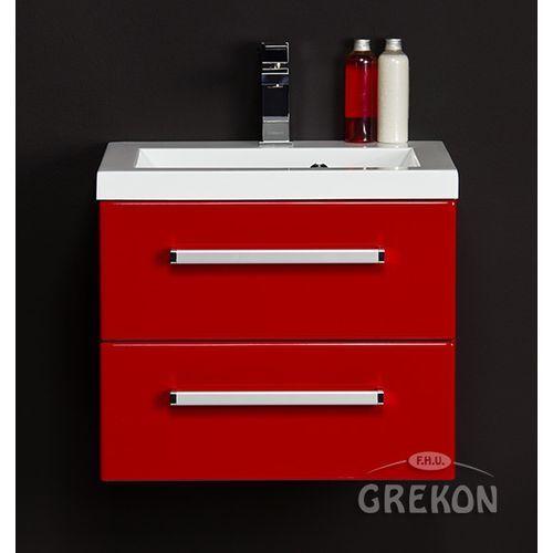 Czerwona szafka wisząca z umywalką 50/39/2 seria fokus cz marki Gante