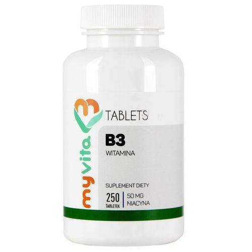 Tabletki MyVita Witamina B3 50mg, 250tabl. (Niacyna, Witamina PP)