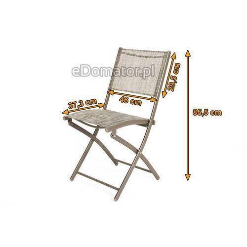 Krzesła ogrodowe balkonowe składane - 2 szt. marki Edomator.pl