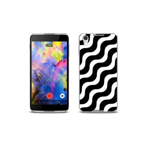 etuo Fantastic Case - Blackberry DTEK50 - etui na telefon Fantastic Case - biało-czarna fala