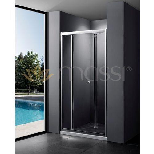Massi Case drzwi prysznicowe składane 80x185 cm przejrzyste MSKP-FA920-80, MSKP-FA920-80