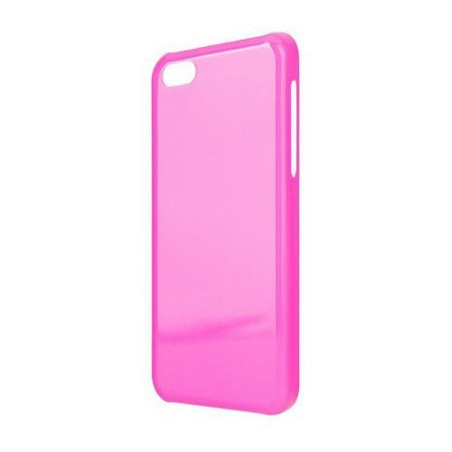 Etui do apple iphone 5c iplate neonowy różowy marki Xqisit