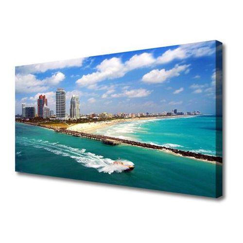 Obraz na Płótnie Morze Plaża Miasto Krajobraz