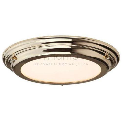 Plafon LAMPA sufitowa WELLAND BATH/WELL/F PB Elstead łazienkowa OPRAWA okrągła LED 25W IP54 mosiądz polerowany