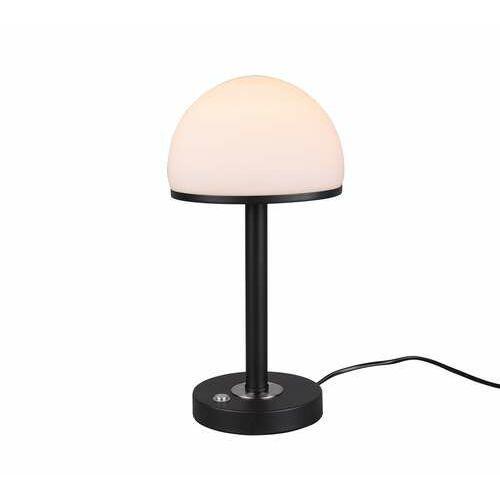 Trio berlin 527590132 lampa stołowa lampka 1x4w led czarna (4017807480313)