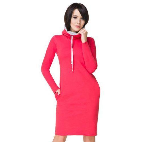 Tessita Koralowa sportowa sukienka z kominem