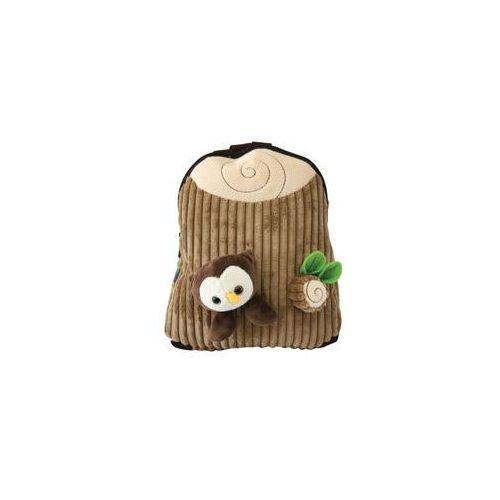 Plecak dziecięcy z pluszakiem mały brown - MST Toys