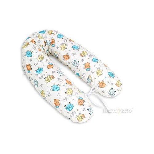 Mamo-tato poduszka dla kobiet w ciąży szalone owieczki kremowe