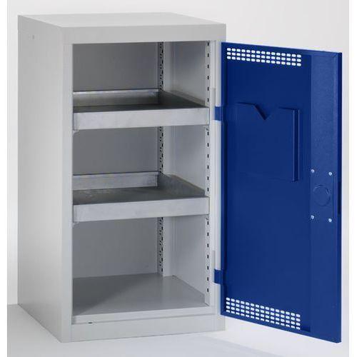 Szafa ekologiczna, drzwi perforowane, wys. x szer. x głęb. 900x500x500 mm, 2 pół