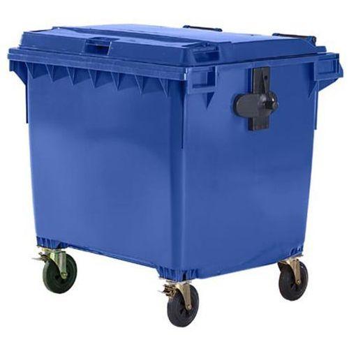 Schaefer group Duży pojemnik z tworzywa na odpady wg pn en 840, poj. 1100 l, niebieski, dostawa