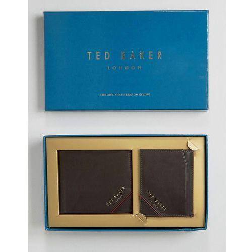 Ted Baker Wallet & Cardholder Gift Set in Leather - Brown