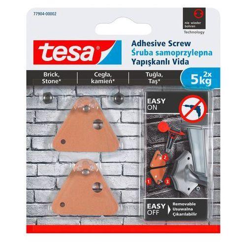 Śruby samoprzylepne zewnętrzne trójkątna udźwig 5 kg 2 szt. marki Tesa