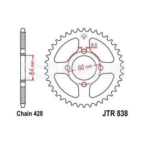 Zębatka tylna stalowa jt 838-45, 45z, rozmiar 428 2300213 yamaha rd 125, rs 100 marki Jt sprockets