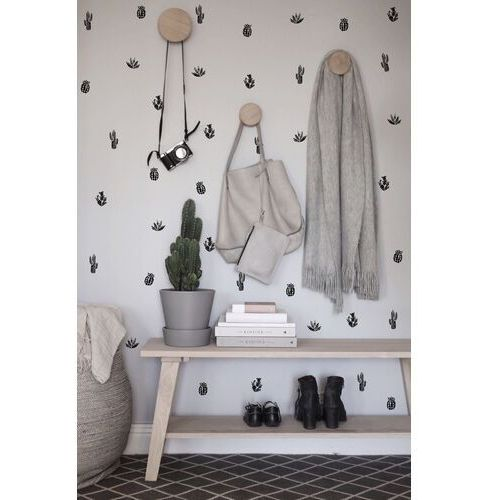Coloray.pl Naklejki na ścianę czarno-białe kaktusy