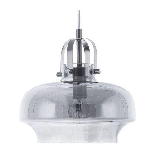 Lampa wisząca szklana przydymiona szara wiltz marki Beliani