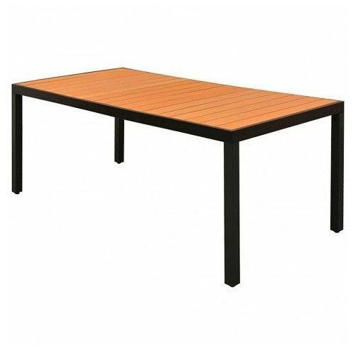 Stół ogrodowy, na podwórko i na patio Sama 3X - brązowy, vidaxl_42795