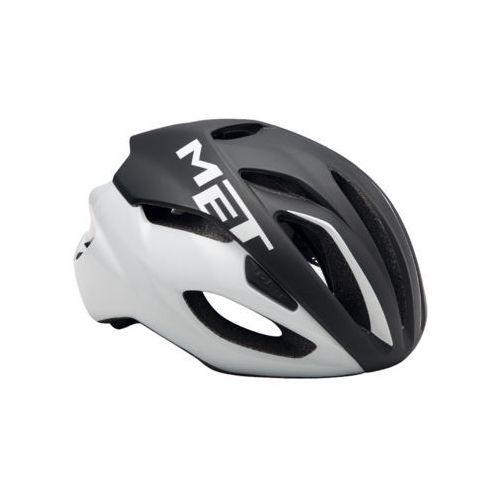 Kask rowerowy MET Rivale czarno-biały (Rozmiar:: M (54-58 cm)) (8015190245867)