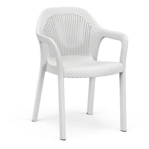 Krzesło ogrodowe białe marki Lechuza