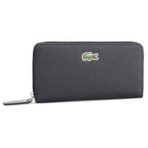 Lacoste Duży portfel damski - l zip wallet nf2285po black 000