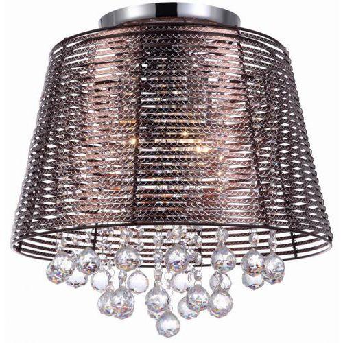 Italux Plafon lampa sufitowa kutti mxm2129/3 br druciana oprawa z kryształkami crystal brązowa