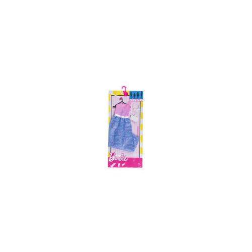 Barbie Modne kreacje Mattel (r�owo-niebieska w kwiaty)