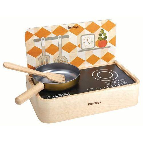 Plan toys Drewniana kuchenka przenośna z rondelkiem i szpatułką, , plto 3482