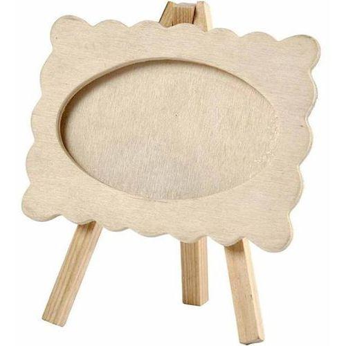Drewniana ramka stojąca 12,5x13,2 cm marki Creativ