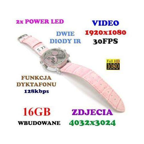 Szpiegowski damski zegarek na rękę fhd (16gb), nagrywający dźwięk i obraz + rejestrator dźwięku +... marki Spy