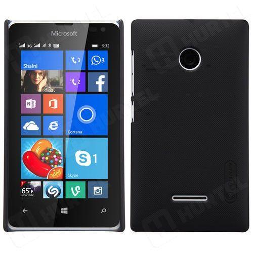 Nillkin Frosted Shield etui Microsoft Lumia 532 czarne + folia ochronna - Czarny (Futerał telefoniczny)