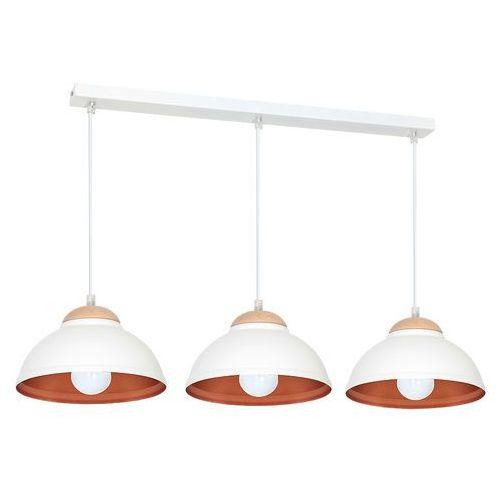 Luminex Lampa wisząca arne 7403 lampa sufitowa 3x60w e27 biały / miedziany!! produkt wycofany z oferty producenta!! (5907565974034)