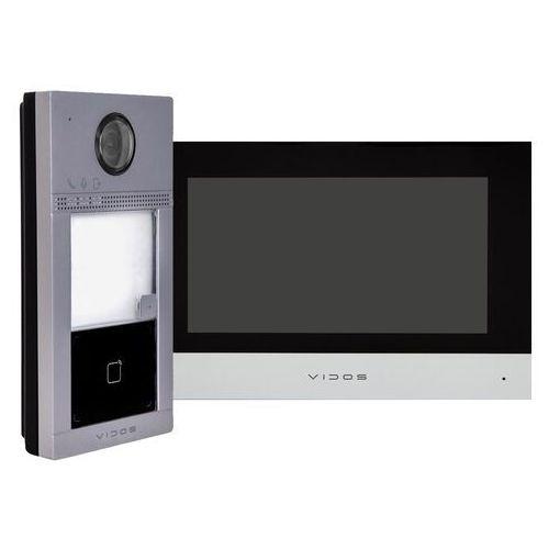 Vidos Zestaw natynkowy wideodomofonu ip czytnik rfid monitor 7''