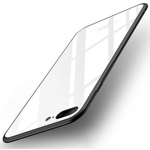 tempered glass case etui pokrowiec nakładka ze szkła hartowanego iphone 8 plus / 7 plus biały marki Msvii