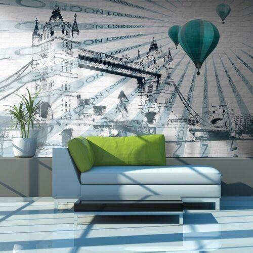 Artgeist Fototapeta - lot balonem nad tower bridge