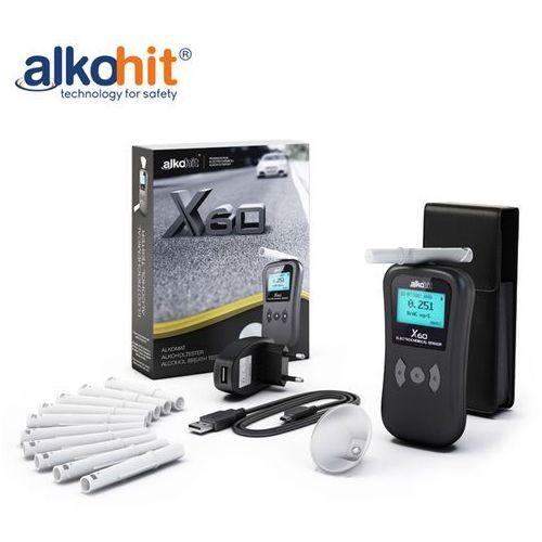 Alkomat ALKOHIT X60 Elektorchemiczny bezustnikowy + Kalibracje + Etui, 5907781851171