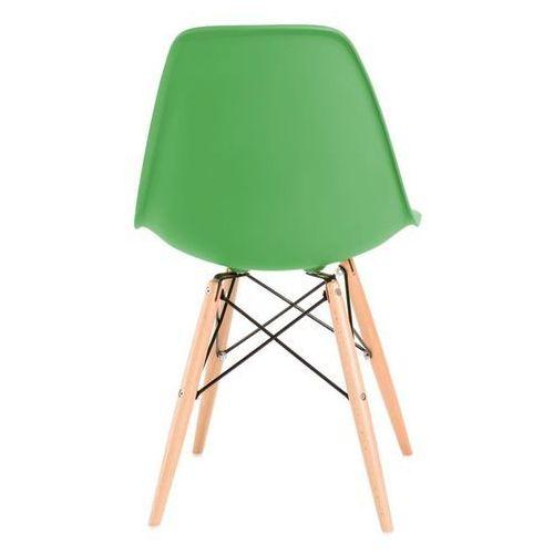 Krzesło P016W PP inspirowane DSW - zielony ciemny, kolor zielony