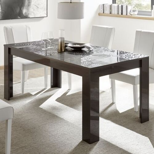 Vero stół rozkładany 137-185 cm antracyt wysoki połysk marki Fato luxmeble