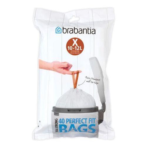 Brabantia Worki na śmieci perfectfit bags rozmiar x 10-12l 40 szt
