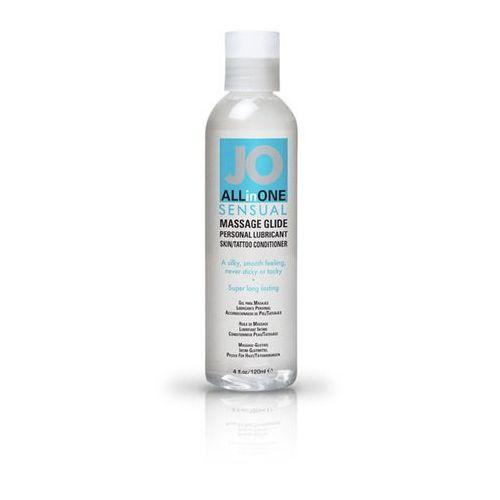 Żel do masażu i lubrykant - system  massage glide unscented 120 ml bez zapachu marki Jo