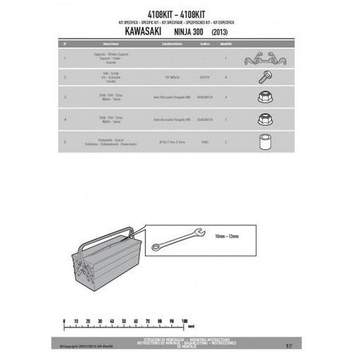Kappa 4108kit adapter do montazu stelaża te4108k bez użycia stelaża centralnego