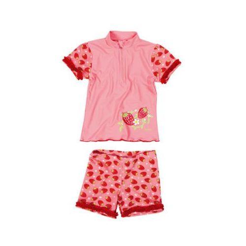 Playshoes girls dwuczęściowy strój kąpielowy truskawka kolor czerwony (4010952384901)