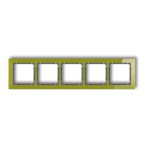 Ramka pięciokrotna Karlik Deco 2-11-DRS-5 efekt szkła spód grafitowy ramka zielona (5901832005988)