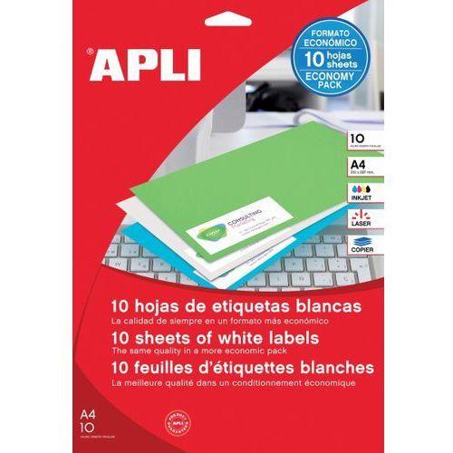 Etykiety uniwersalne , 48,5x25,4mm, prostokątne, białe 10 ark. marki Apli