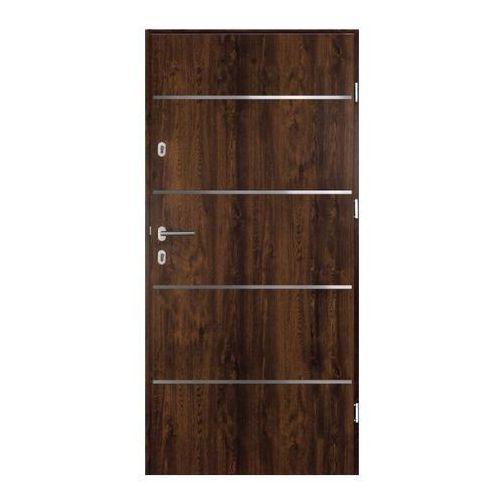 Drzwi zewnętrzne stalowe Elbrouz 90 prawe orzech (5902335870059)