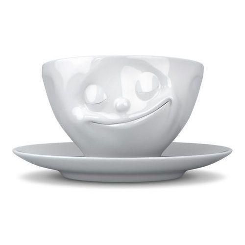 58Products - Filiżanka do kawy - szczęśliwa buźka - biała - 0,2 l - Szczęśliwa buźka